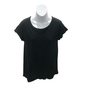 Banana Republic Black Short Sleeve Blouse